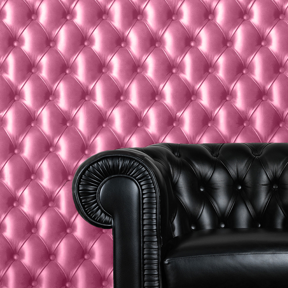 Ebay Sofa Pink Details About Cushioned Leather Effect Pink Padding Chesterfield Sofa Wallpaper 3d Image