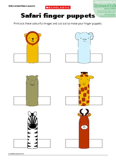 Finger puppet templates \u2013 FREE Early Years teaching resource