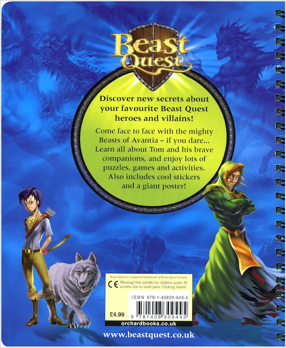 You Can Book Me Ltd Beast Quest Adventurer's Handbook Scholastic Kids 39; Club