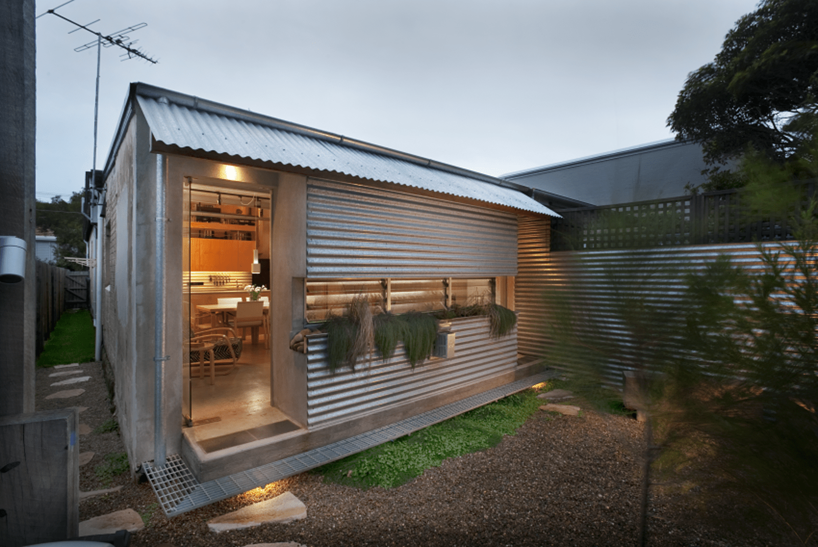 Steel And Concrete Homes Photo 1 Of 10 In Compact Australian Home Clad In Steel And