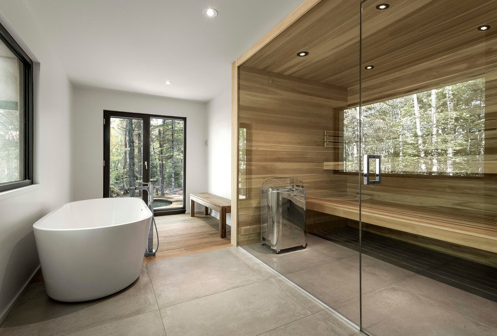 Moderne Sauna 10 Sterling Saunas In Modern Homes - Dwell