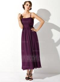 Empire Tea-Length Chiffon Maternity Bridesmaid Dress With ...