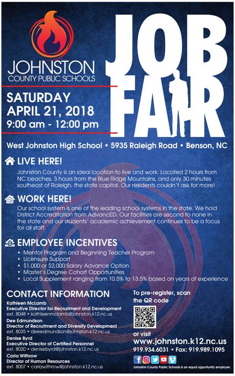 Johnston County Public Schools Job Fair - East Carolina University
