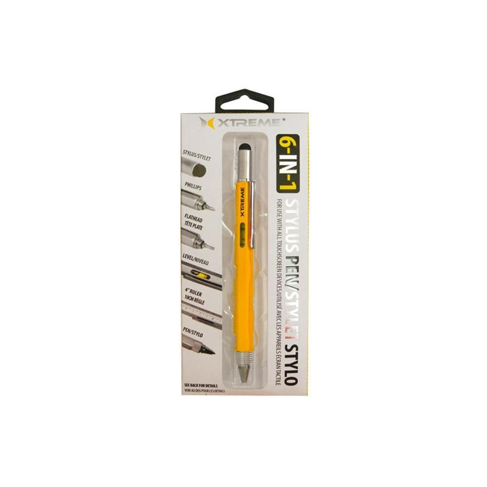 Xtreme 6 In 1 Multi Tool Stylus Pen Yellow 88571