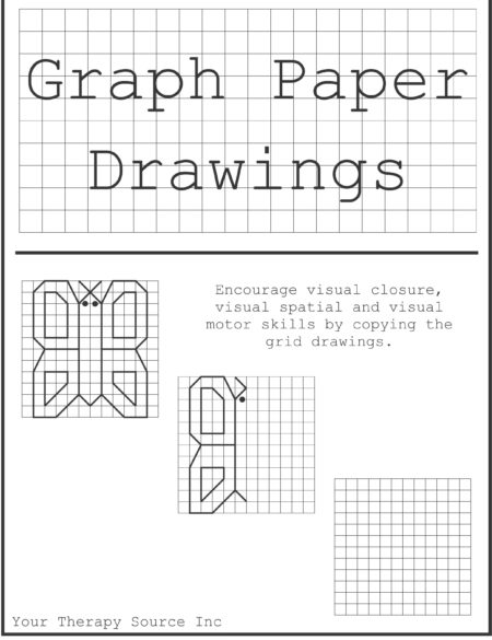 Graph Paper Drawings Freebie - Your Therapy Source