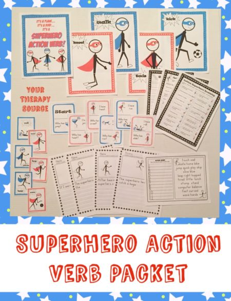 Superhero Action Training Freebie - Your Therapy Source