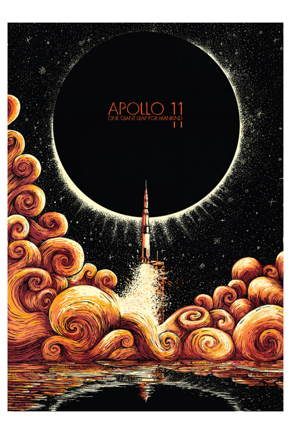 Apollo 11 Art Print Poster - Adam Young Scores Posters - Online - poster on line