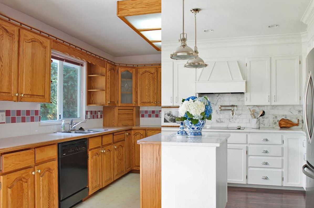 Should Kitchen Cabinets Go Up To Ceiling 13 Ways To Makeover Dated Kitchen Cabinets Without Replacing Them