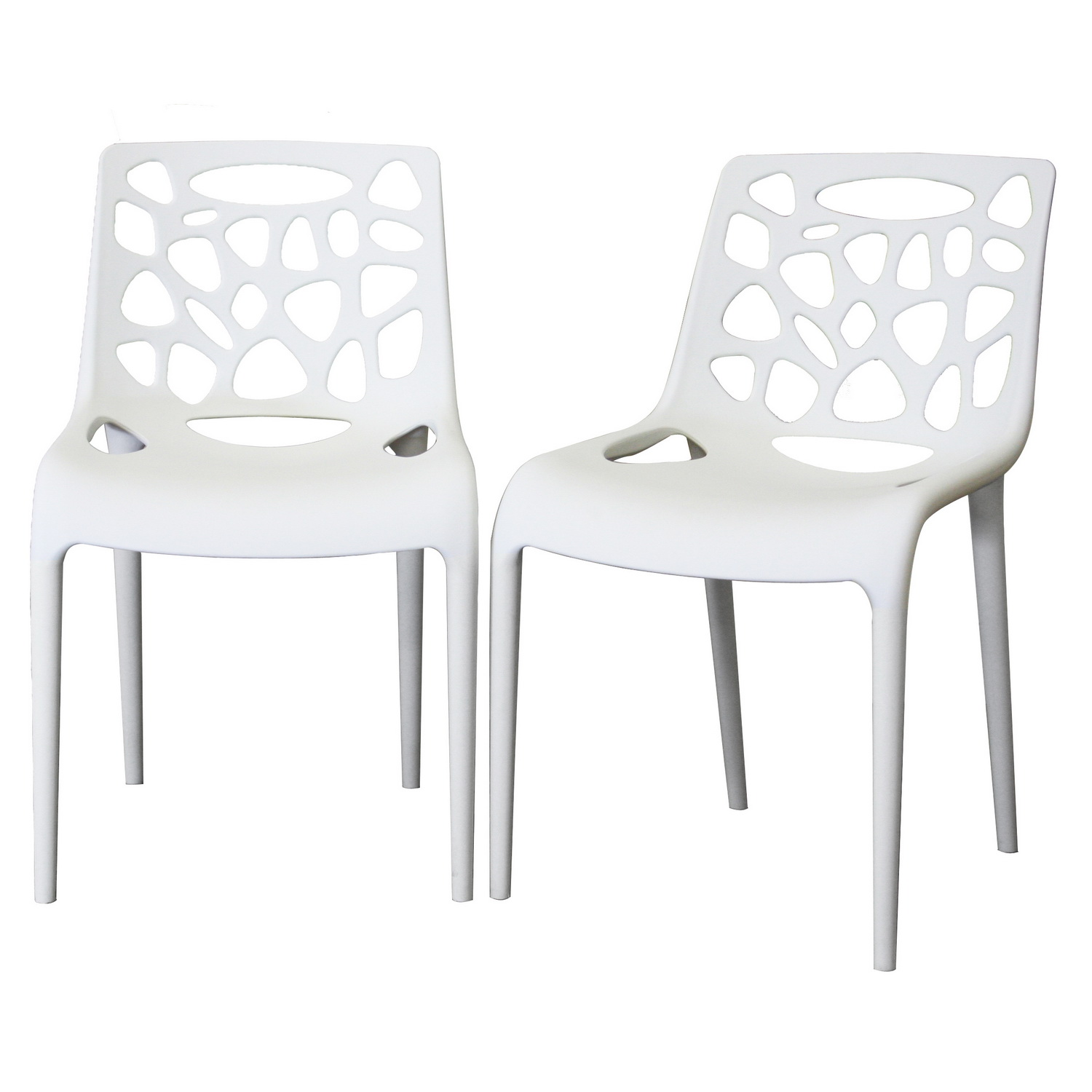 White Plastic Modern Chairs White Modern Dining Chair Chair Pads And Cushions