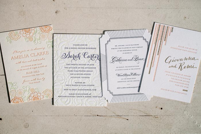 Engagement Party, Bridal Shower  Rehearsal Dinner Invitations