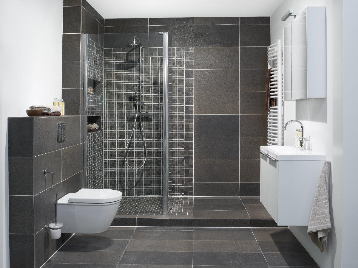 Grijs beige badkamer badkamer ikea