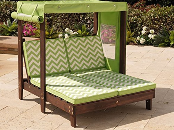 Kidkraft Outdoor Double Chaise Lounge With Canopy Kids