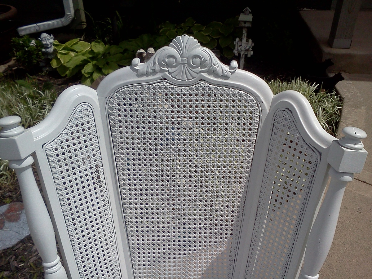 Antique Wingback Cane Back Rocking Chair Collectors Weekly