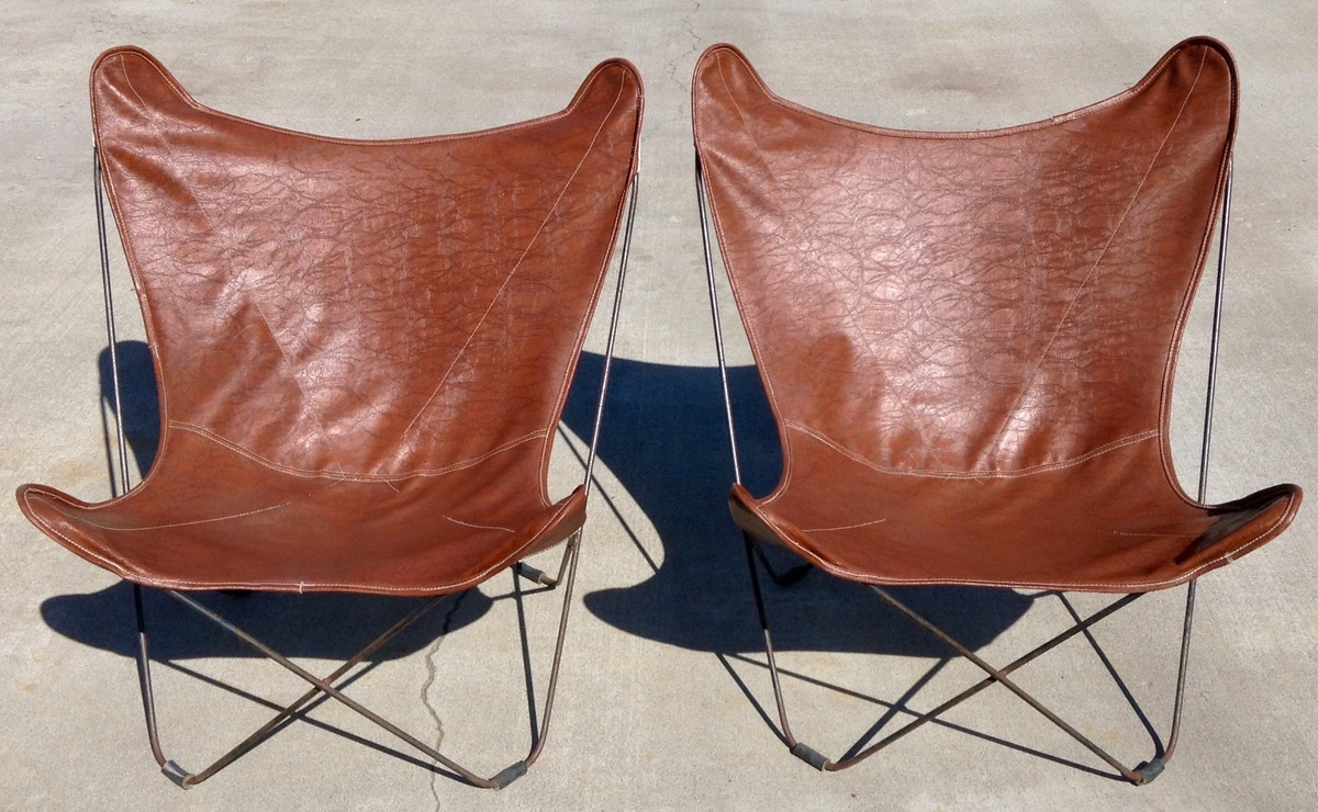 Butterfly Chair Knoll Pair Of Original 1940 S Knoll Hardoy Butterfly Chairs