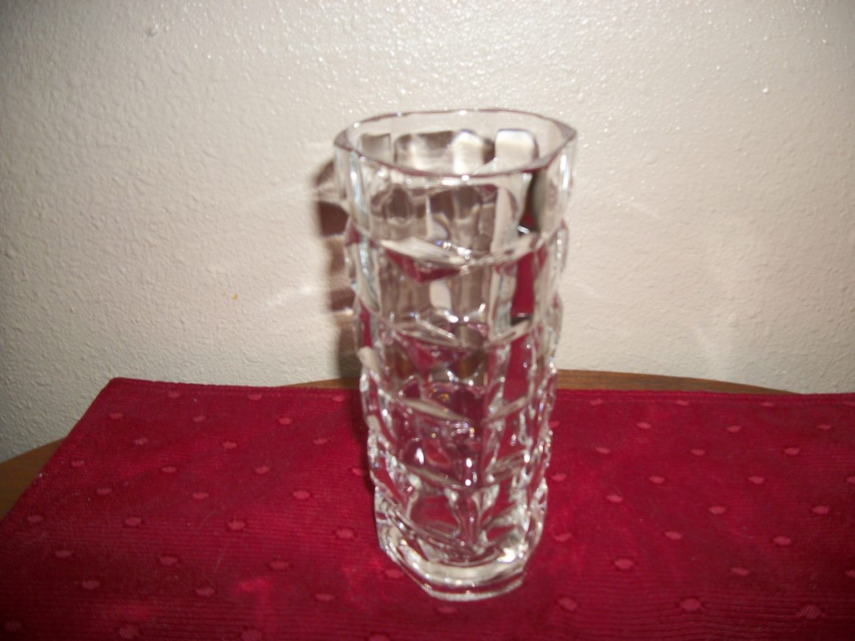 Glassware Vase Heavy Glass Vase Stamped France 22 Collectors Weekly