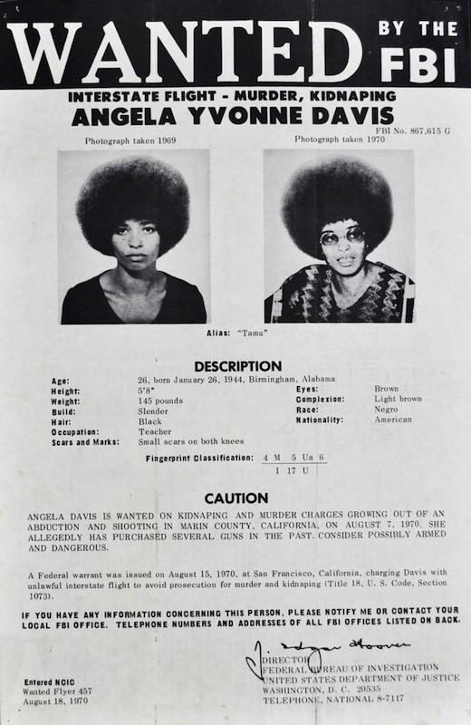 Trailing Angela Davis, from FBI Flyers to \u0027Radical Chic\u0027 Art