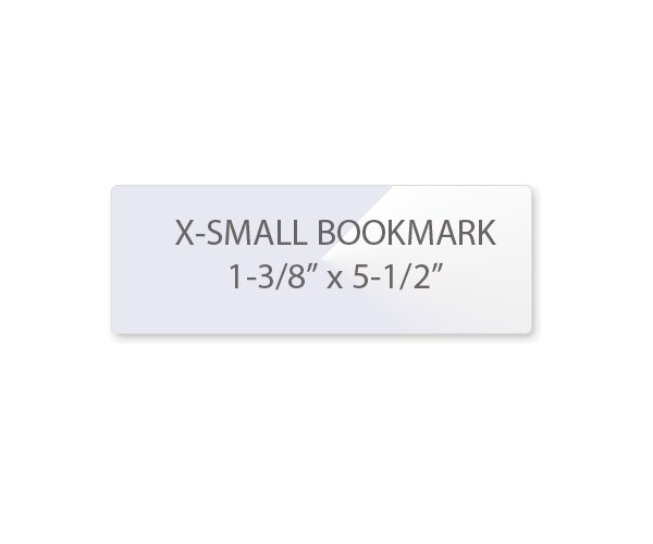 5 Mil Bookmark Laminating Pouches - Extra Small (Size 1-3/8\ - bookmark size