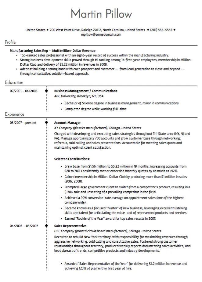 resume samples bullet points