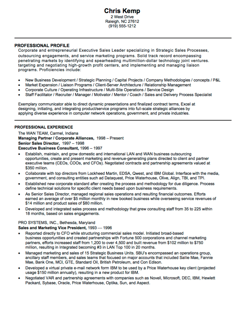front line sales resume examples