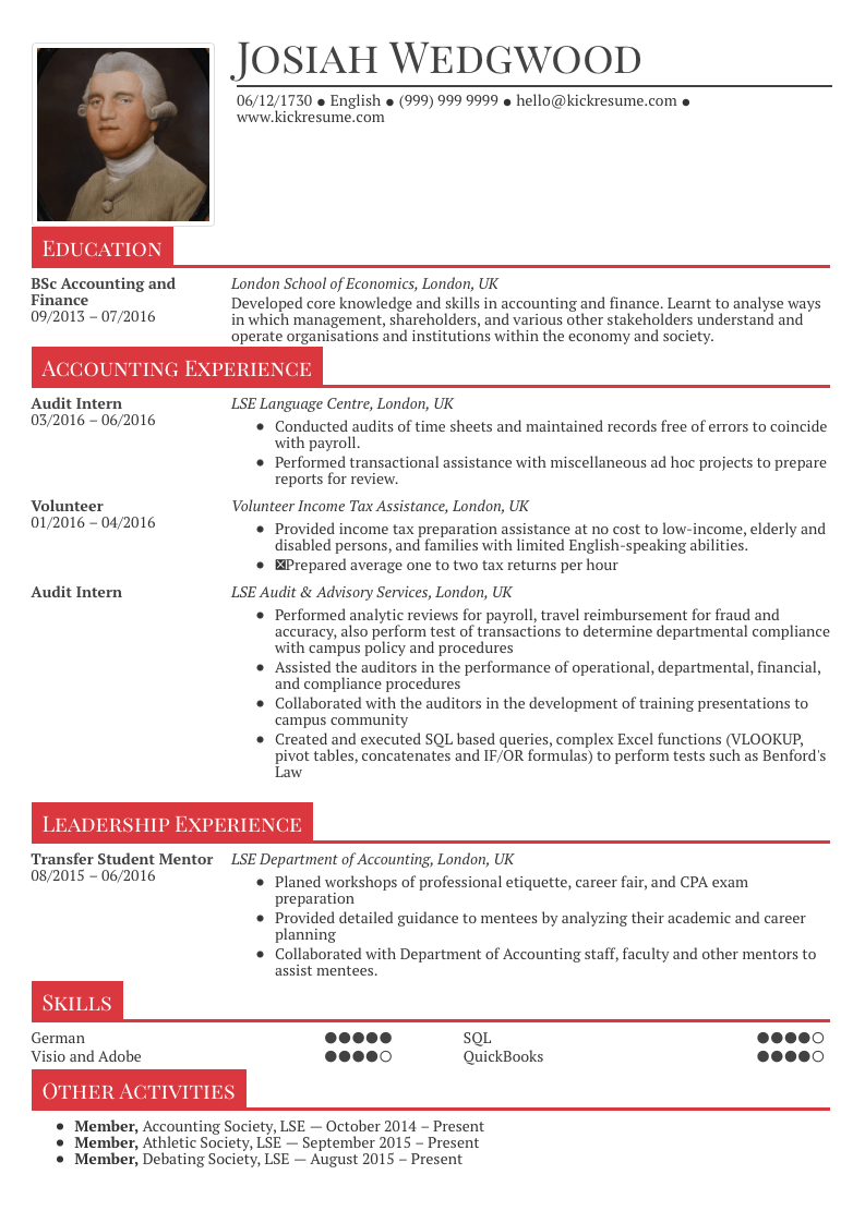 sample resume for fresh graduate
