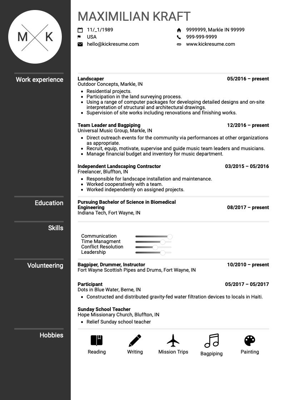 succinct resume