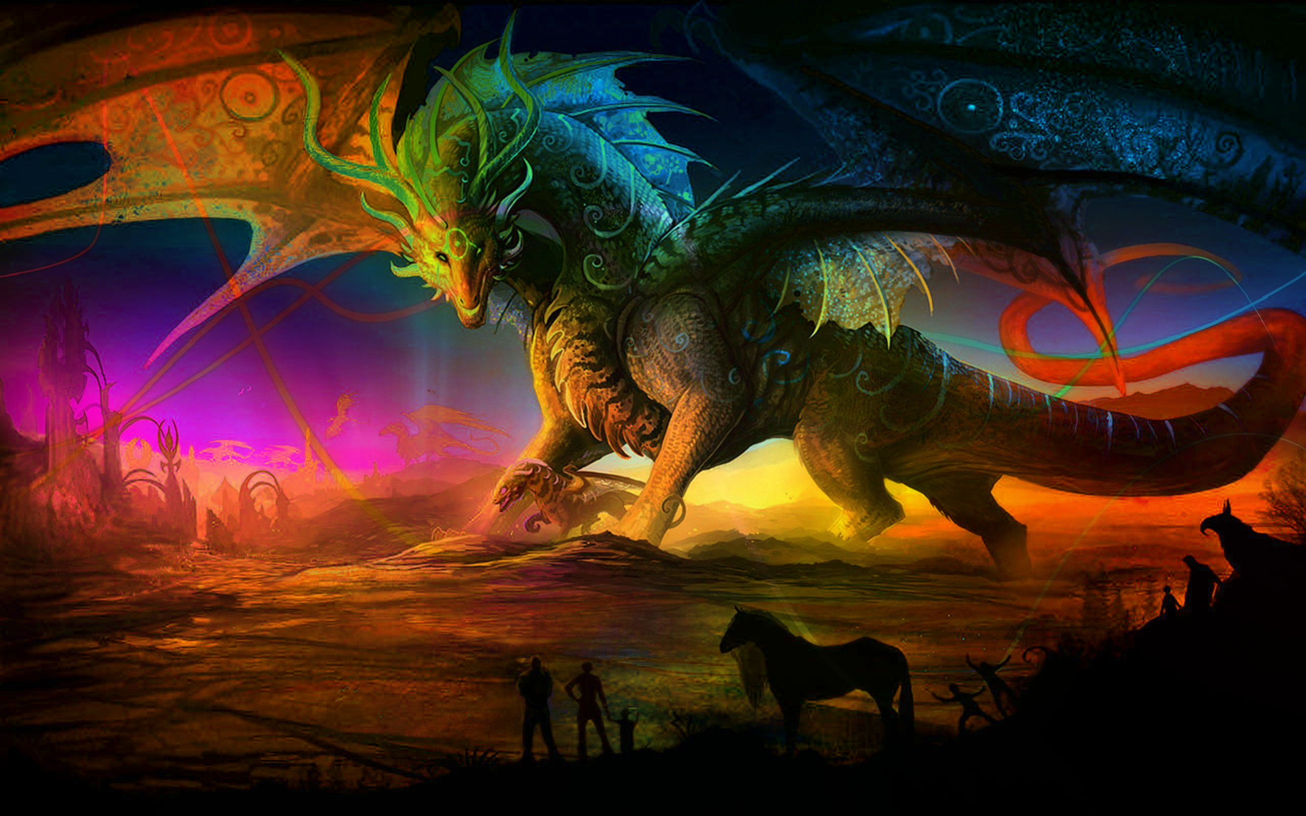 Red Dragon Girl Wallpaper 30 Magnificent Free Hd Fantasy Art Wallpaper For Your
