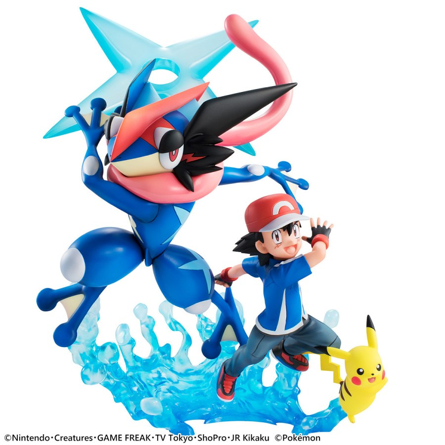 Ash, Pikachu and Ash-Greninja Synchronize for New Pokémon G.E.M. Figure Set!
