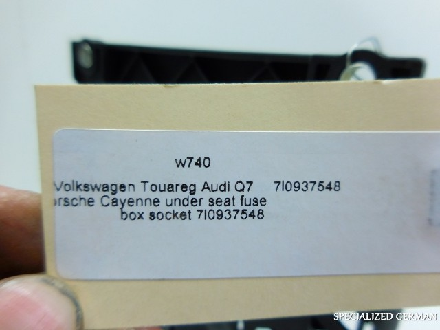 Volkswagen Touareg Audi Q7 Porsche Cayenne under seat fuse box