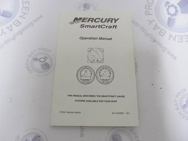90-10229021 Mercury SmartCraft Boat Gauge Systems Operation Manual