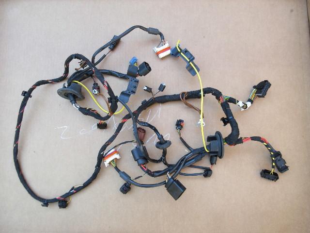 07 Porsche 911 Turbo 997 #1031 Front Headlight Wire Wiring Harness
