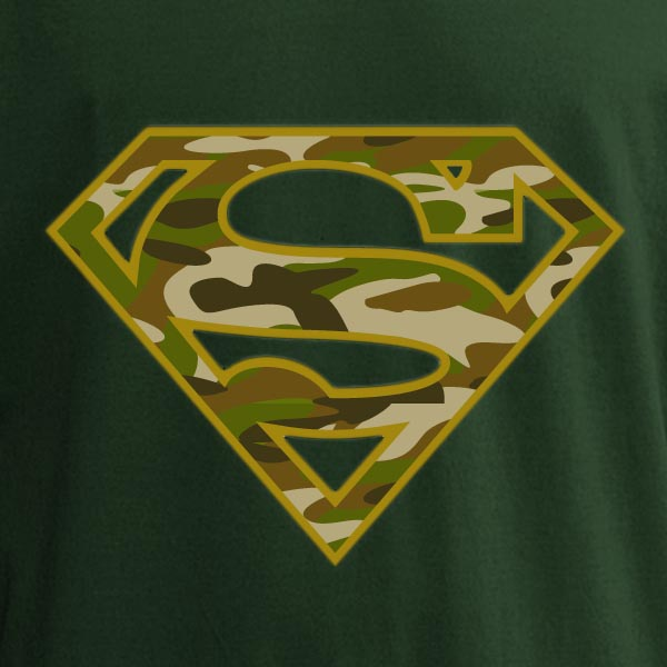 Stoff Blau Superman - Army Power T-shirt - Offizieller Warner Bros. Shop
