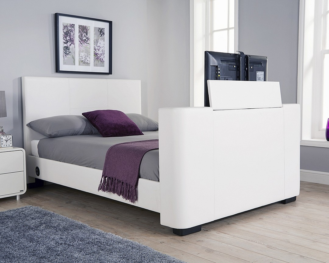 Electric Bed King Size Nottingham White King Size Tv Bed Frame