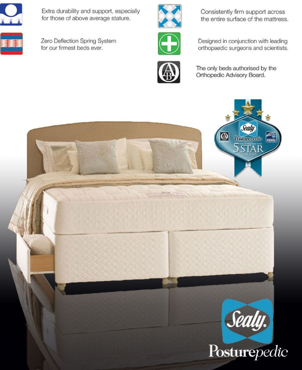 Sealy Posturepedic Backcare Elite Mattress Sealy Backcare Elite Kingsize 4 Drawer Divan Bed
