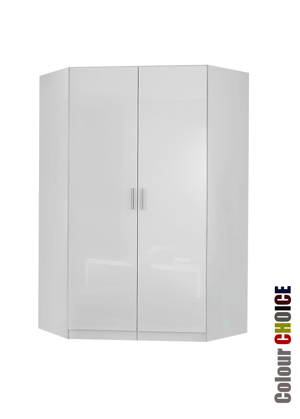 Corner Wardrobe Rauch High Gloss Cello 2 Door Corner Wardrobe