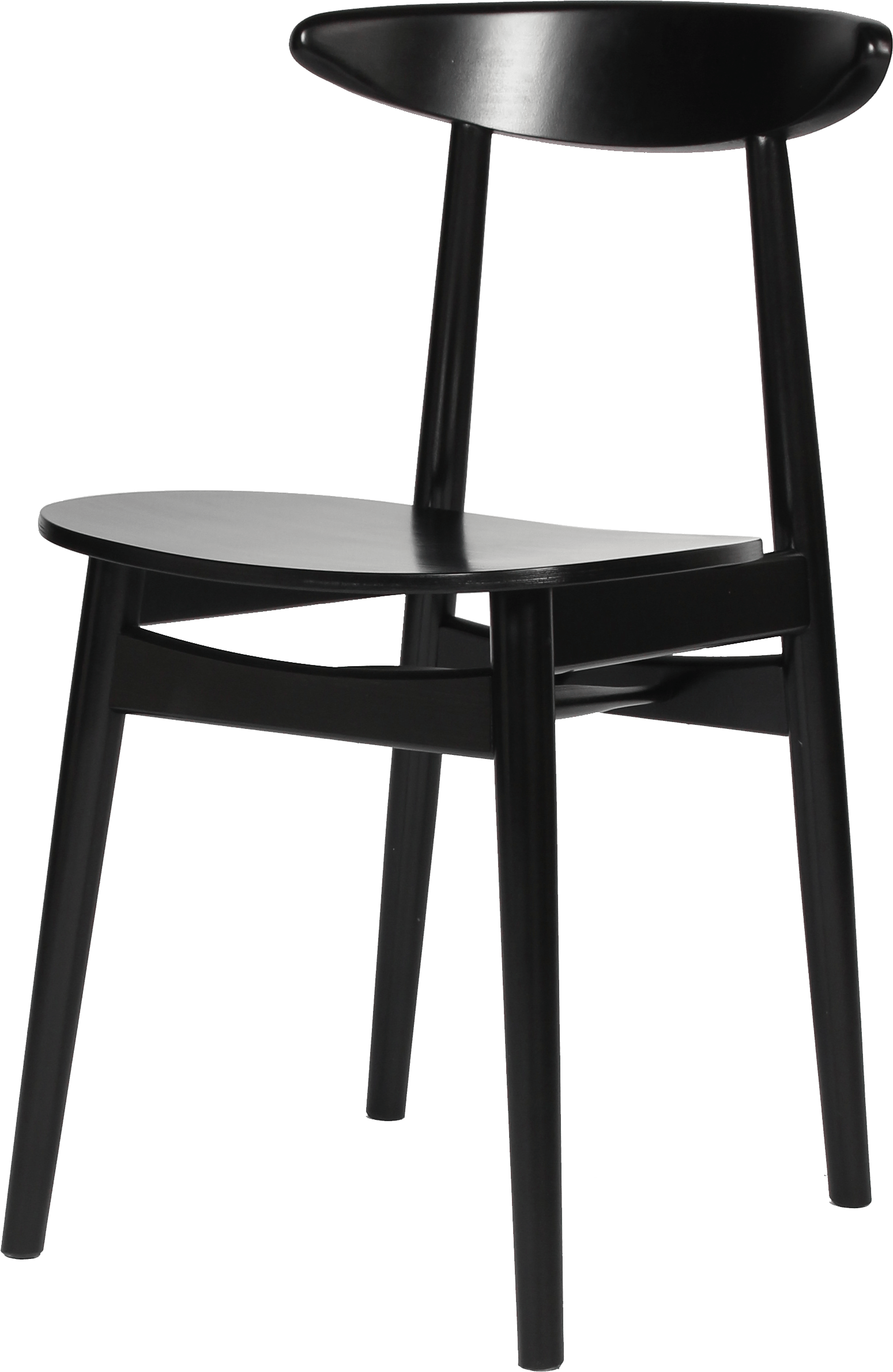 Vincent Sheppard Vincent Sheppard Teo Dining Chair In Black White Solid Beech Structure And Veneer Seat