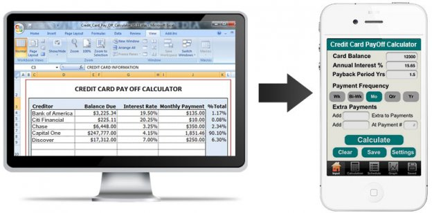 How Converting Credit-Card PayOff Calculator to Mobile App Can Help - credit card payoff calculator