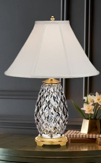 "Waterford Crystal, Diama 28"" Table Crystal Lamp"