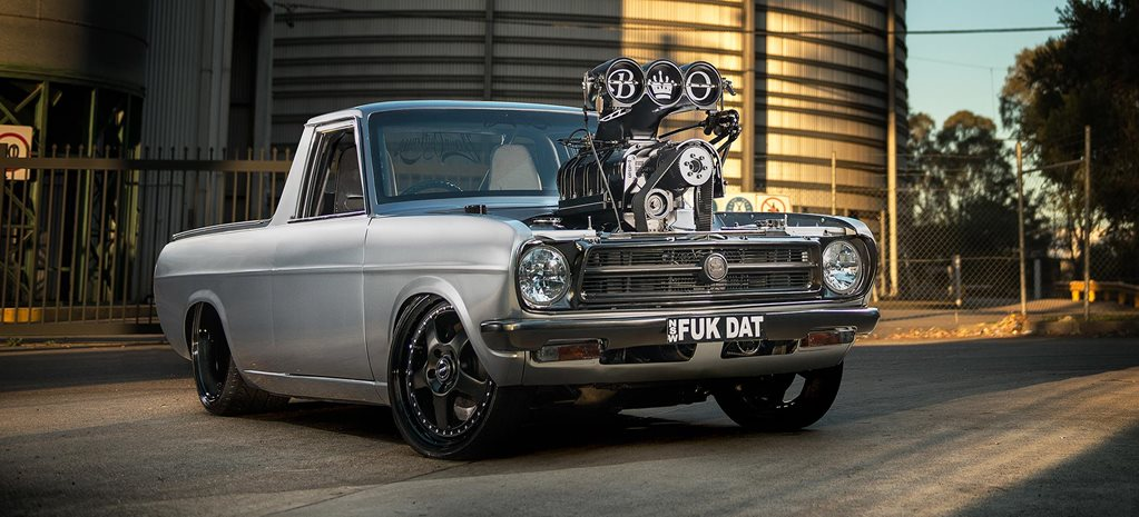 Cars Wallpaper In Front Of Skyline Blown And Injected Ls2 Powered 1973 Datsun 1200 Ute