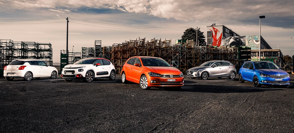 Volkswagen Polo v Mazda 2 v Suzuki Swift v Citroen C3 v Skoda Fabia