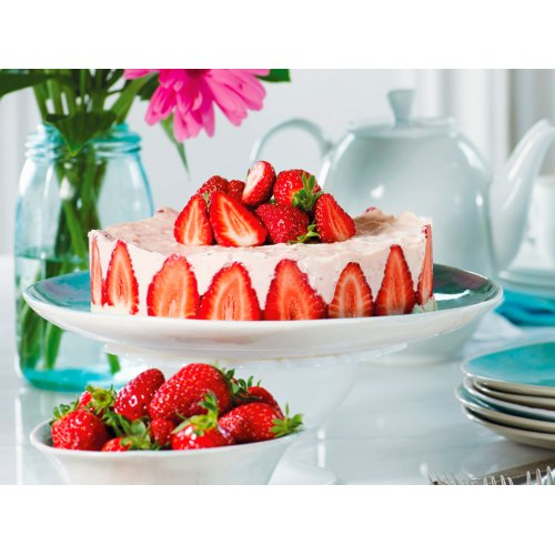 Medium Crop Of Strawberry Mousse Cake