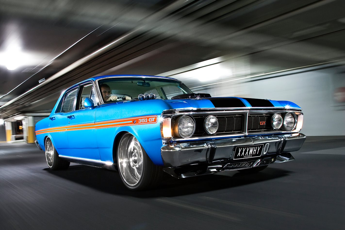 Muscle Cars Burnout Wallpapers 1971 351 Clevo Powered Ford Xy Falcon Street Machine