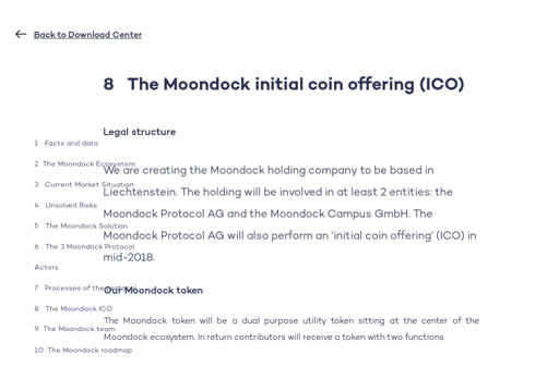 Whitepaper Moondock v070 \u2014 11 The Moondock roadmap