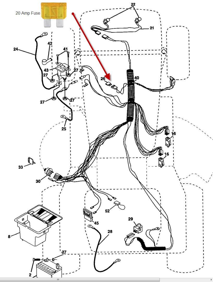 wiring diagram for craftsman lt1500