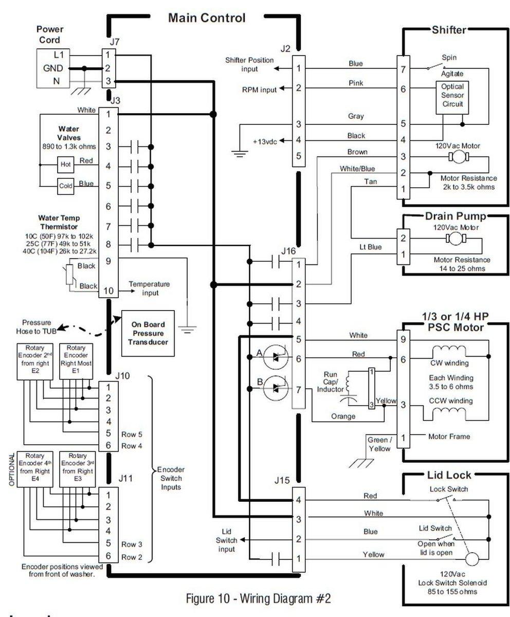 whirlpool washer lid lock wiring diagram