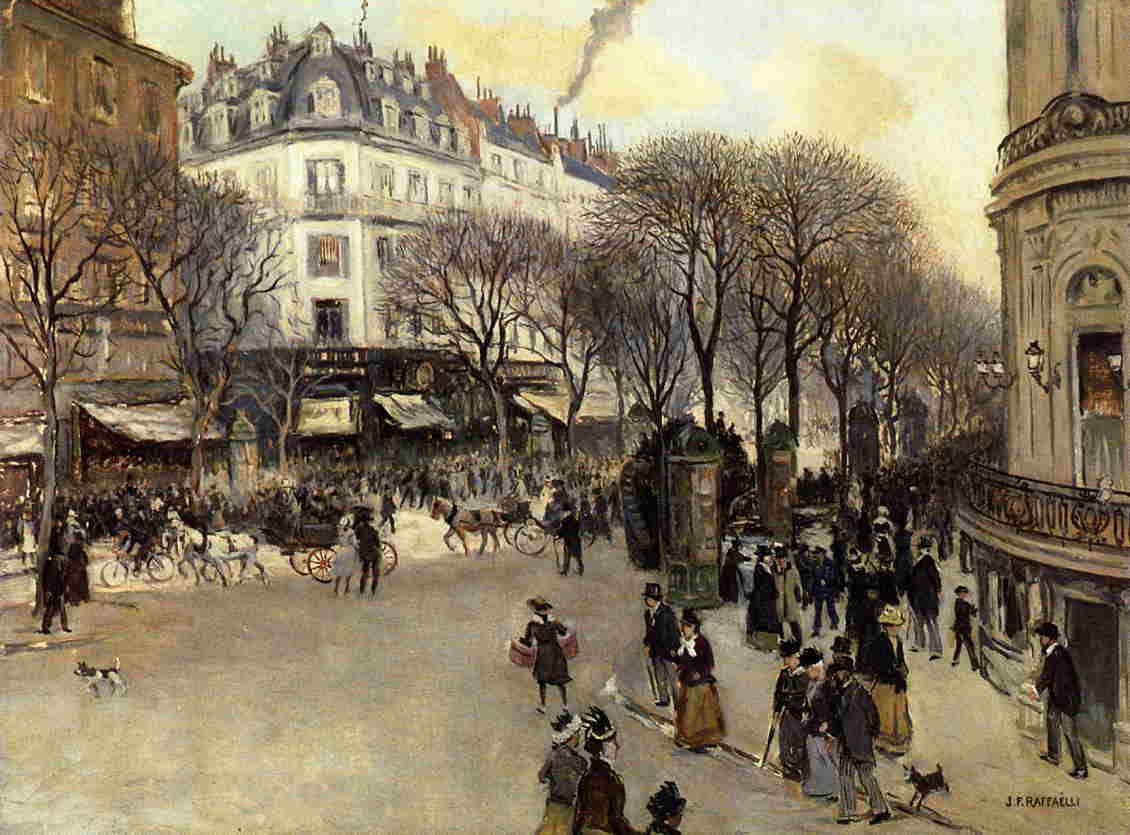 Ancienne Collection Saint James Boulevard Des Italiens Painting Jean Francois Raffaelli