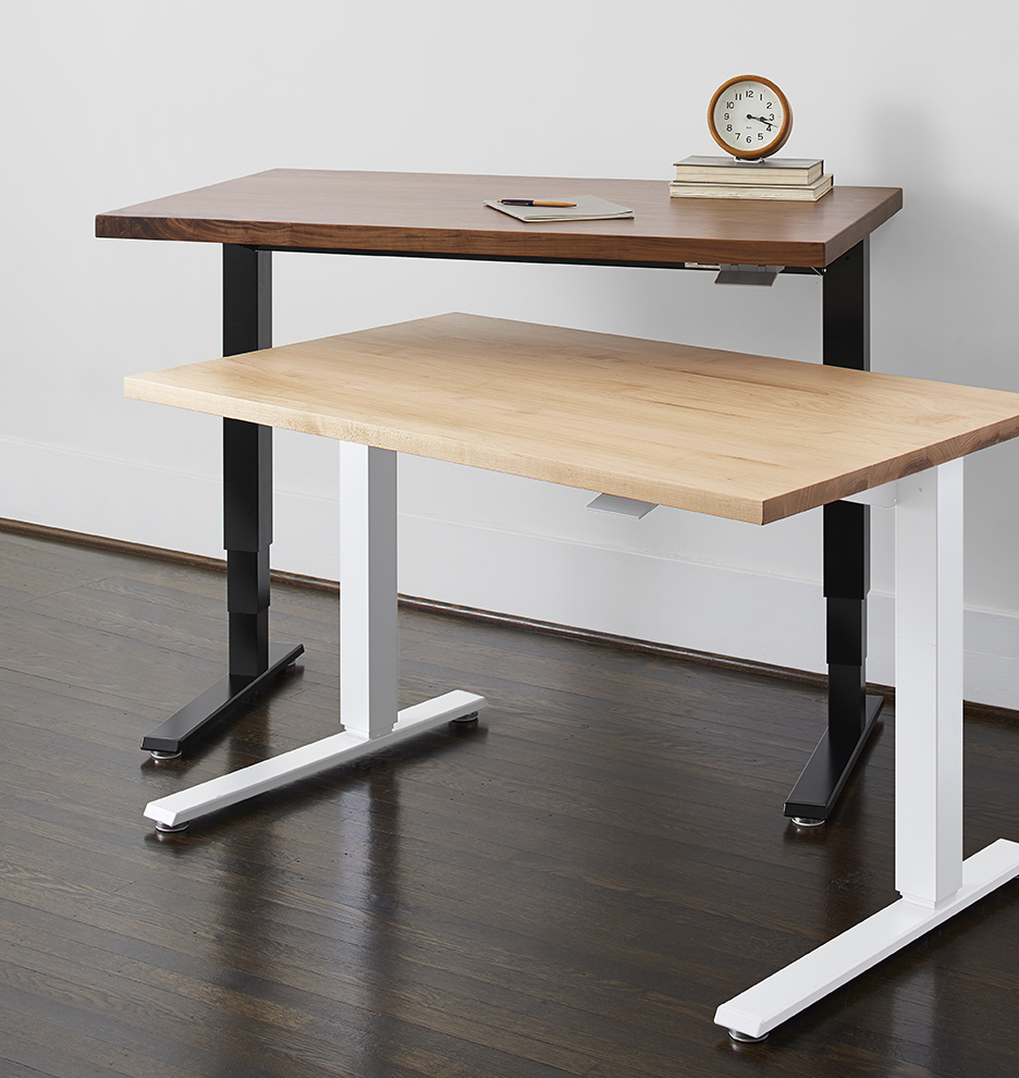 Sit To Stand Desk Humanscale Sit Stand Desk Black With Walnut