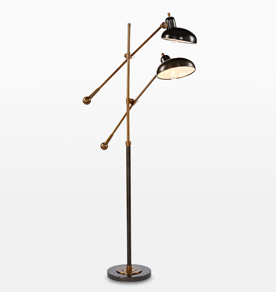 Arm Lamp Bruno Double Arm Floor Lamp