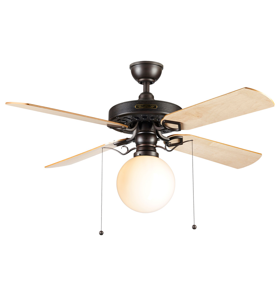 Ceiling Fans With Good Lighting Heron Ceiling Fan With Opal Globe Shade