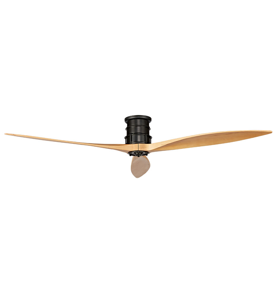 Black And Gold Ceiling Fan Falcon Semi Flush Ceiling Fan