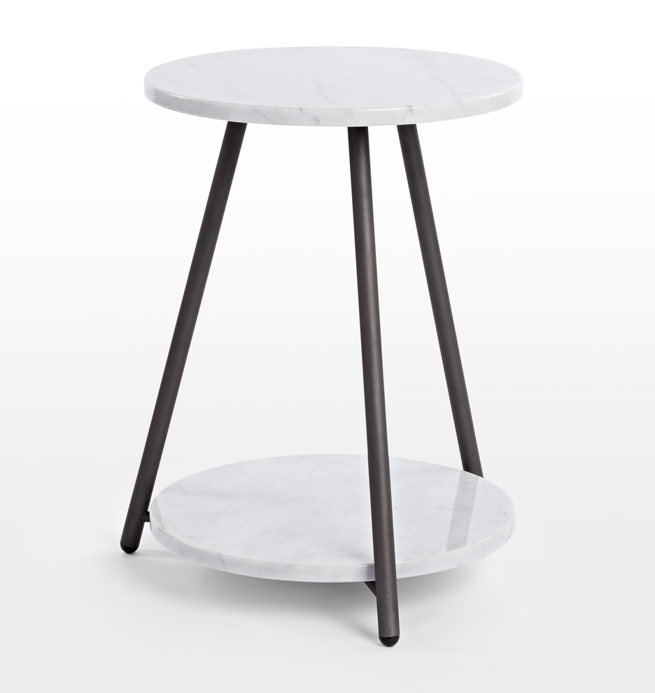 Coffee And Side Tables Bridge Marble Side Table